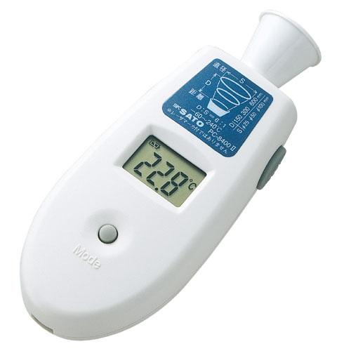 【(株)佐藤計量器製作所】ポケット放射温度計  PC-8400�U:ラッパ型測定エリアガイド付