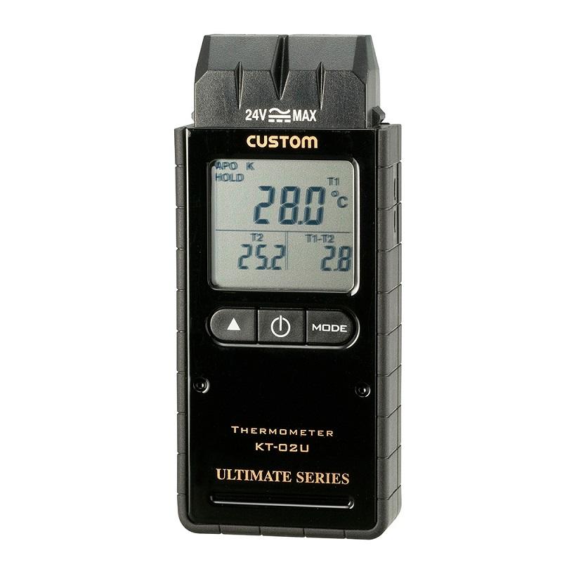 【�潟Jスタム】デジタル温度計  KT-02U:2ch・Kタイプ熱電対センサ