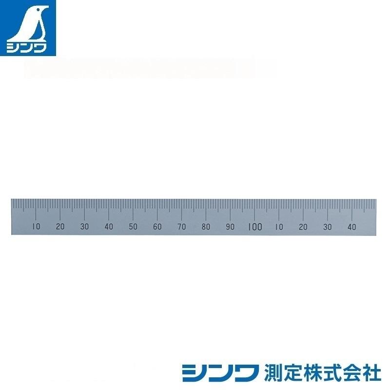 【シンワ測定�梶z14129:マシンスケール 150mm 上段左基点目盛 穴なし