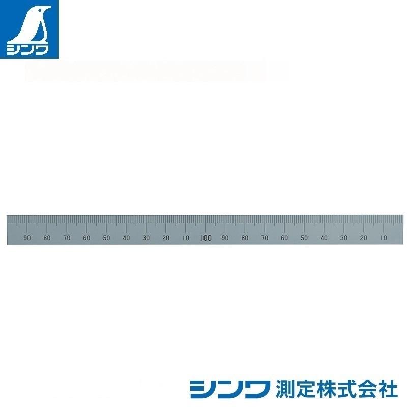 【シンワ測定�梶z14137:マシンスケール 200mm 上段右基点目盛 穴なし