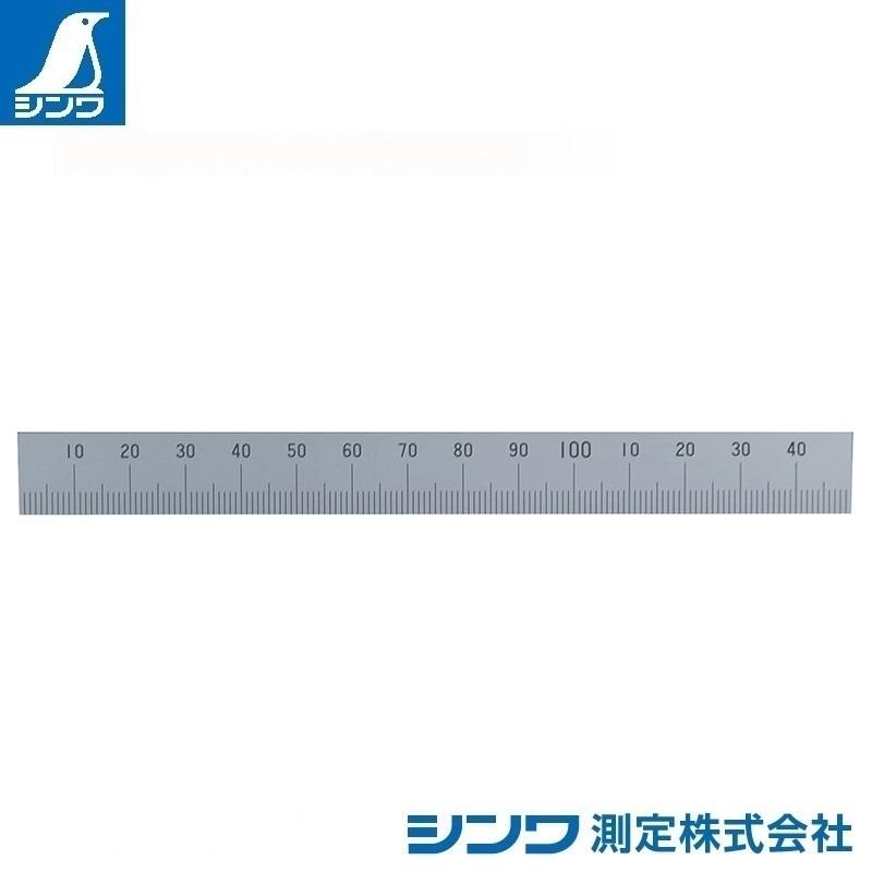 【シンワ測定�梶z14148:マシンスケール 150mm 下段左基点目盛 穴なし