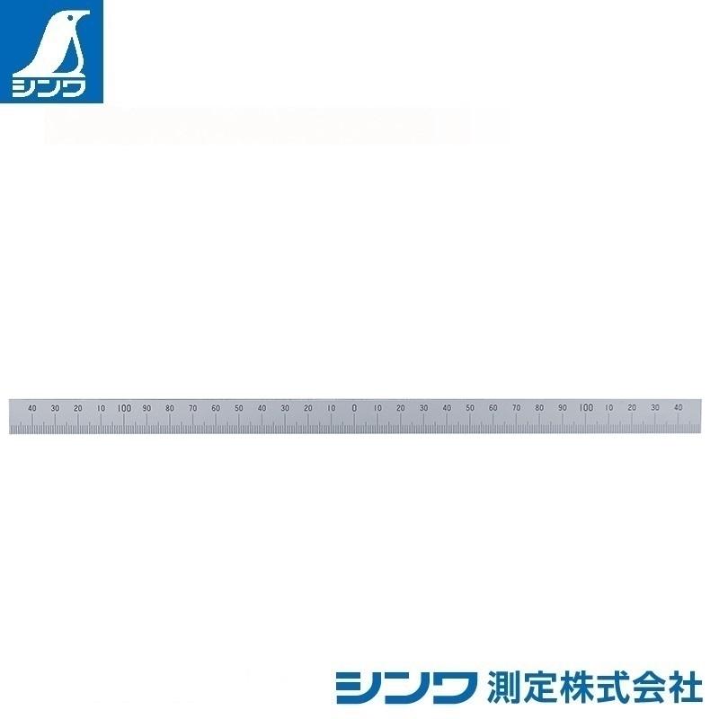 【シンワ測定�梶z14162:マシンスケール 300mm 下段左右振分目盛 穴なし